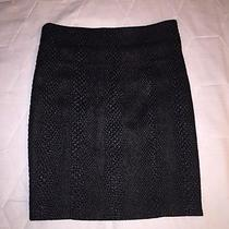 Yigal Azrouel Black Textured Zipper Pencil Skirt Size 6 Awesome Very Rare  Photo