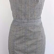 Yigal Azrouel Gray Plaid Print Strapless Dress - Size M Photo