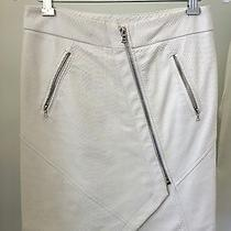 Yigal Azrouel  Ivory Snake Embossed Leather Skirt  Size 2 Photo