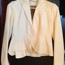Yigal Azrouel Jacket/coat Cream Leather Cropped Size 4 Photo