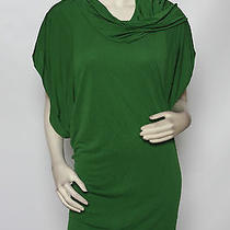 Yigal Azrouel New York Clover Green Cowl Jersey Knit Mini Shift Dress 3 M Nwt Photo