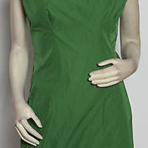 Yigal Azrouel New York Clover Green v-Back High Bib Mini Shift Dress 12 Nwt Photo