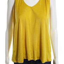 Yigal Azrouel New York Mustard Yellow T Back Draped Sleeveless Top Sz 3 Photo