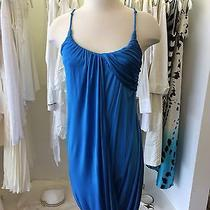 Yigal Azrouel  Ocean Blue Draped Silk Dress  Size 1 Photo