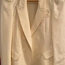 Yigal Azrouel White Cream Blazer Jacket Suit Size 2  Photo