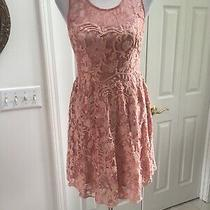 Yoana Baraschi by Anthropologie Blush Pink Lace Dress 2 Excellent Photo