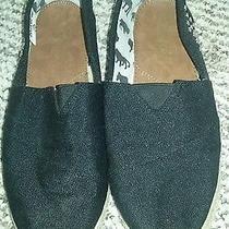 Yoki Black Studded Flats Size 10 College-52 Toms-Style Photo