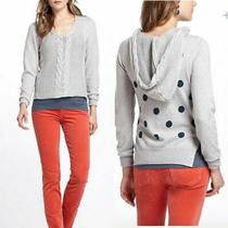 Yoon Anthropologie Dotted & Cabled Hoodie Sweater New Size S Photo