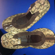 Yosi Samra Ballet Foldable Flats Snake Skin Leather Size 5.5- 6 Nib Photo