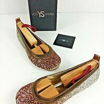 Yosi Samra Copper and Silver Glitter Bridal Serena Flats Shoes Size 5 Nib  Photo