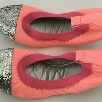 Yosi Samra Girls  Size 4 Glitter Pink Ballet Flats Shoes Photo