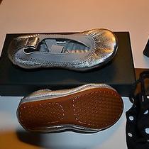 Yosi Samra Kids Ballet Shoes Silver Metallic Size 5c New in Box Photo