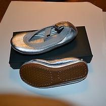 Yosi Samra Kids Ballet Shoes Silver Metallic Size 6c New in Box Photo