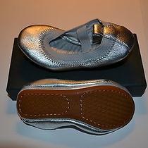 Yosi Samra Kids Ballet Shoes Silver Metallic Size 7c New in Box Photo