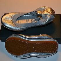 Yosi Samra Kids Ballet Shoes Silver Metallic Size 8c New in Box Photo