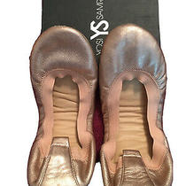 Yosi Samra Rose Gold Girls Ballet Flats Y5 / Youth Size 5 in Box With Dustcover Photo