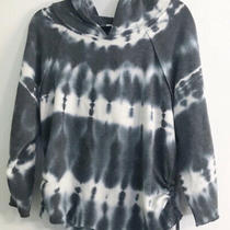 Young Fabulous and Broke Hoodie Womens S Gray Blue Tie Dye Sweatshirt Pullover Photo