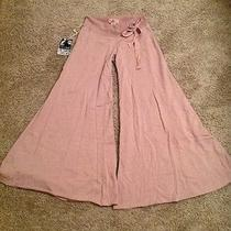 Young Fabulous and Broke Htf Extreme Wide Leg Pants Size Medium Nwt Beige/pink  Photo