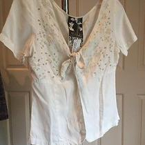 Young Fabulous and Broke Plain White Flower Tie Top Small Nwt Photo