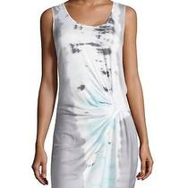 Young Fabulous and Broke Tie-Dye Gathered-Detail Dress Gray/ice Bengal Medium Photo