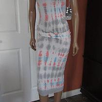Young Fabulous & Broke Araya Tie Dye Coral Bamboo Wash Sheath Dress Size L Nwt Photo