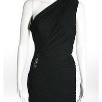 Young Fabulous & Broke Black 1 Shoulder Lace Side Detail Ruched Wrap Dress Sz Xs Photo