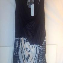 Young Fabulous & Broke Black Sheer Tie-Dye Pullover Racer Tank Top Shirt S Nwt Photo