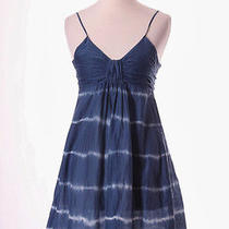 Young Fabulous & Broke Blue White Tie Dyed Mini Dress Xs 0/2 Photo