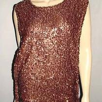 Young Fabulous & Broke Deep Brass Brown Sequin Embellished Long Top Tunic Sz S Photo