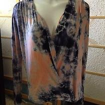 Young Fabulous & Broke Hamlet Orange Nova Wash Top Blouse Size Xs 163 Photo