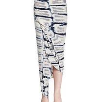 Young Fabulous & Broke Maxi Skirt Gray Multi Tie Dye Faux Wrap Style Sz M Nwt Photo