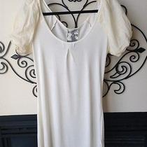 Young Fabulous & Broke Medium Ivory Dress Designer Euc Nice Photo
