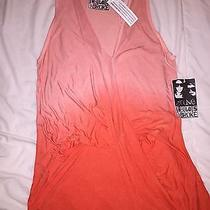 Young Fabulous & Broke Orange Ombre Pullover Racer Tank Top Shirt Nwt  L Photo