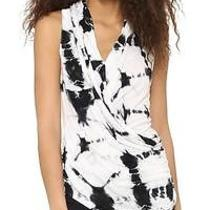 Young Fabulous & Broke Porter Black / White Drape Tank Top Nwt  177   M Photo