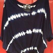 Young Fabulous Broke S Small Shirt Tie Dye Top Blouse Boho Oversized Slouchy Photo