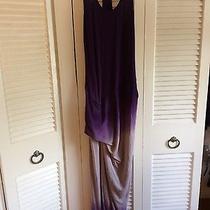 Young Fabulous Broke Sassy Maxi Dress Purple Ombre Xs New Photo