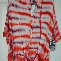Young Fabulous & Broke Top S New Tie Dye Draped Oversized Fit 132 Nwt Photo