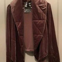 Young Fabulous & Broke Women's Quilted Collar Blush/mauve Velourjacket Size Sm Photo