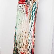 Young Fabulous & Broke Yfb Print Jersey Stripe Knit Maxi Long Dress Skirt Xs/s/p Photo