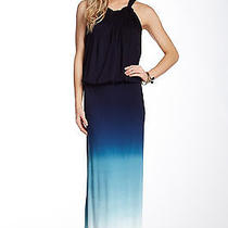 Young Fabulous Broke Yfb  Willa Maxi Dress Navy Ombre-New Size Large Photo