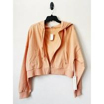 Young Fabulous & Broke Zip Up Guava Peach Hoodie Medium Nwt Photo