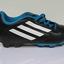 Youth Adidas Soccer Shoes Boots Cleats Size 4 1/2 (Uk 4) Classic Black / White  Photo