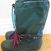 Youth  Big Girls Size 2 Sorel Brand Waterproof Insulated Freestyle Snow Boots  Photo