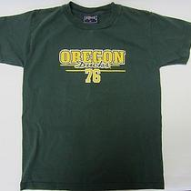 Youth Boy's Jansport T-Shirt - Oregon Ducks 76 - Green W/yellow - Size Large Photo