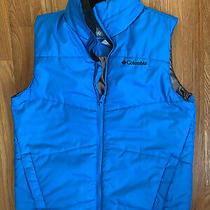 Youth Boys Columbia Titanium Omni-Heat Puffy Vest Blue Size 10/12  Photo
