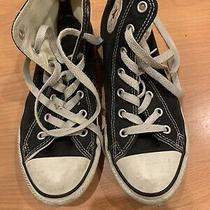 Youth Boys/girls Converse Chuck Taylor High Black Sneakers Size 3 Photo