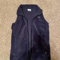 Youth Columbia Full Zip Fleece Vest Front Pockets Boy/girl M 10/12 Navy Blue Photo