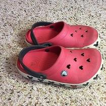 Youth Girl's 3  Crocs Disney Mickey Mouse Red Shoes Ked Photo