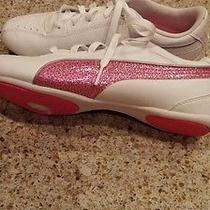 Youth Girl's Size 3 Puma Glitter Tennis Shoes Worn Once Like New Photo