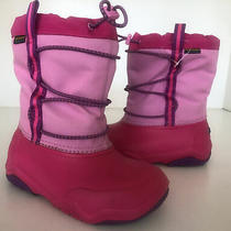 Youth Girl's Swiftwater Crocs Waterproof Boots Party Pink  Sz 1 Winter/snow Euc Photo